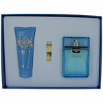 Versace Man Eau Fraiche by Versace, 3 Piece Gift Set for Men