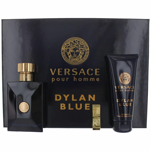 Versace Pour Homme Dylan Blue by Versace, 3 Piece Gift Set for Men