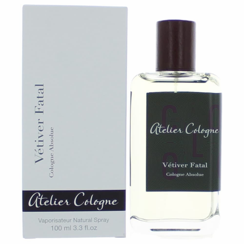 Vetiver Fatal by Atelier Cologne, 3.3 oz Cologne Absolue Spray for Unisex