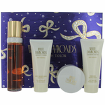 White Diamonds by Elizabeth Taylor, 4 Piece Gift Set for Women with Powder