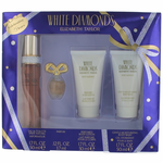 White Diamonds by Elizabeth Taylor, 4 Piece Gift Set for Women (With 1.7 oz)