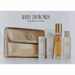 White Diamonds by Elizabeth Taylor, 5 Piece Gift Set for Women with Bag