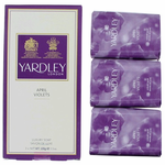 Yardley April Violets by Yardley of London, 3 x 3.5 oz Luxury Soap for Women