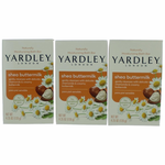 Yardley Naturally Moisturizing Bath Bar Shea Buttermilk by Yardley of London, 3 x 4.25 oz Soap for Women