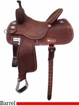 "12.5"" to 15.5"" Martin Saddlery Sherry Cervi Crown C Custom Barrel Racer 97-C3"