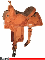 "DISCONTINUED 12.5"" to 15.5"" Reinsman Marlene McRae Special EFFX Barrel Saddle 4240"