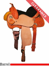 """SOLD 2017/09/20  12"""" Circle Y Little Cowpoke Youth Barrel Racer Saddle 3002 CLEARANCE"""