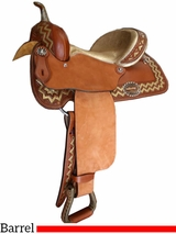"** SALE ** 12"" to 16"" Alamo Barrel Saddle 1264-EM"