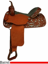 "** SALE ** 12"" to 16"" Alamo Barrel Saddle 1304-MG"