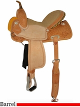 "12"" to 16"" Circle Y Arizona Snowflake Tooled Barrel Saddle 2202 w/$105 Gift Card"