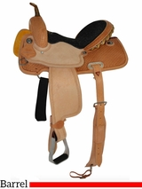 "12"" to 16"" Circle Y Spider Stamp Barrel Saddle 2201 w/$105 Gift Card"