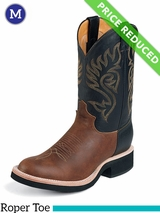 10B Justin Boots Men's Western Coffee Westerner Boots 5008 CLEARANCE