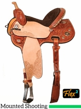 "13"" to 16"" Circle Y Quick Shot Flex2 Mounted Shooting Saddle 2401 w/Free Pad"