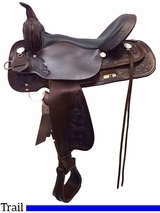 "13"" to 17"" High Horse by Circle Y Mineral Wells Trail Saddle 6812 w/$80 Gift Card"