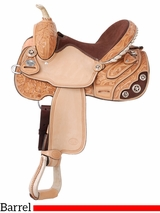 "13.5"" to 15"" Silver Royal Lamar All Around Barrel Saddle 211"