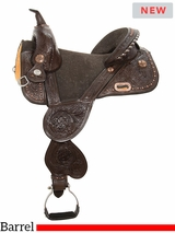 "13.5"" to 16.5"" Circle Y Jatzlau Medium Horn Treeless Barrel Saddle 1328 w/$210 Gift Card"