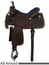"13.5"" to 17"" Martin Saddlery High Plains Midnight Blue All-Around Saddle 14-C2"
