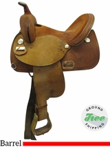 "13.5"" Used Circle Y NBHA Medium Barrel Saddle 0252 uscy3548 *Free Shipping*"