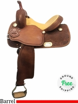 "13.5"" Used Trent Ward Wide Barrel Saddle ustw3962 *Free Shipping*"