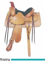 "13"" American Saddlery Young Gun Roper Saddle 650"