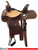 "13"" to 15"" Reinsman Molly Powell Painted Daisy Barrel Saddle 4262 w/$210 Gift Card"