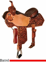 "** SALE ** 13"" to 15.5"" Reinsman Charmayne James Vintage Arizona Flower Barrel Saddle 4285"
