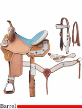 "13"" to 16"" Silver Royal Desert Hope Barrel Saddle Package 9sr273"