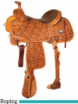 "DISCONTINUED 14"" to 16"" Reinsman Team Roper Saddle 4401"