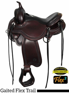 "** SALE ** 14"" to 17"" Circle Y Julie Goodnight Blue Ridge Flex2 Gaited Trail Saddle 1751"