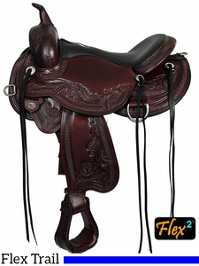 Circle Y Julie Goodnight Wind River Flex2 Trail Saddle 1750 Guarantee Fit