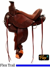 "** SALE ** 14"" to 17"" Circle Y Walnut Grove Flex2 Trail Saddle 1157"