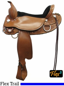 "** SALE ** 14"" to 18"" Circle Y Cottonwood Flex2 Trail Saddle 2361"