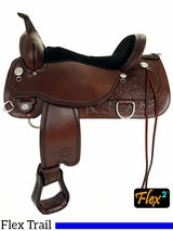 "** SALE ** 14"" to 18"" Circle Y Cypress Flex2 Trail Saddle 2360"