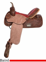 "** SALE ** 14"" 15"" Alamo Chocolate Barrel Saddle 1254"