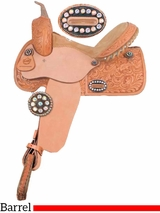 "** SALE ** 14"" 15"" Alamo Colonial Tooled Barrel Racer or Pleasure Saddle 1274-COL"