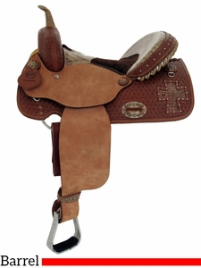 "14"" 15"" Alamo Gator Cross Cutout Barrel Racer 1275-gb"