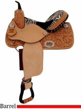 "** SALE ** 14"" 15"" Alamo Zebra Barrel Racing Saddle 1234-zb"
