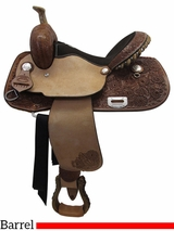 "** SALE ** 15"" Billy Cook Connie Combs Barrel Saddle 291233"