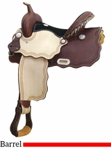 "** SALE ** 14"" 15"" Billy Cook Wave A Smokin Barrel Saddle 291217"