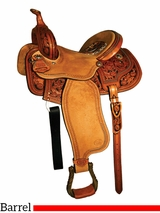 "14"" 15"" Courts Saddlery Sharon Camarillo Barrel Saddle 4632ZAN"
