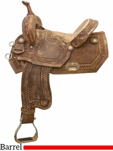 "14"" 15"" Tex Tan Old Tuscon Racer Barrel Saddle 292235"