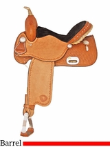 "14"" 15"" Tex Tan Speed Racer Barrel Saddle 292217PN"