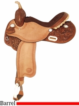 "14"" 15"" Tex Tan Turn N Burn Barrel Saddle 292201"
