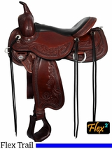"14"" to 17"" Circle Y Julie Goodnight Monarch Flex2 Arena Performance Saddle 1752"