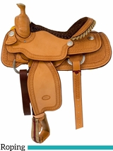 "** SALE ** 14.5"" to 16"" Billy Cook Arena Roping Saddle 2146"