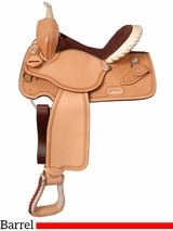 """14.5"""" to 15.5"""" Silver Royal Elite Barrel and Competition Saddle 251"""