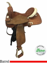 """SOLD 2107/07/19  14.5"""" Used Billy Cook Wide Barrel Saddle 4027 usbi3652 *Free Shipping*"""