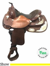 "14.5"" Used Billy Cook Wide Show Saddle 3298 usbi3914 *Free Shipping*"
