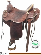 14.5 Used Trent Ward Wide Ranch Saddle ustw4049 *Free Shipping*