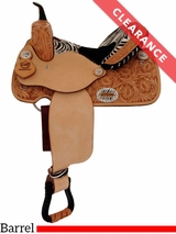 "14"" Alamo Zebra Medium Barrel Racing Saddle 1234-zb CLEARANCE"